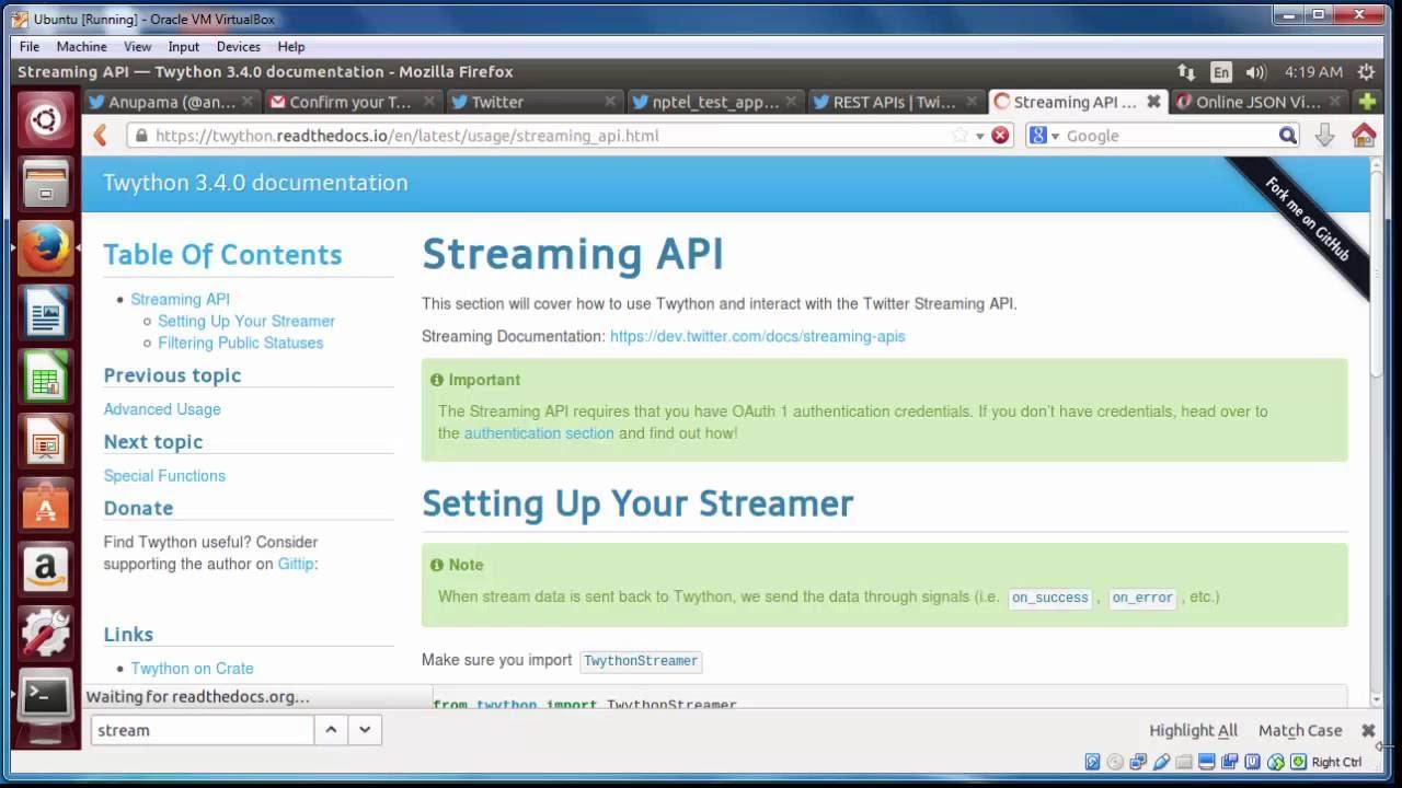 Tutorial 3 Part 1 Twitter API