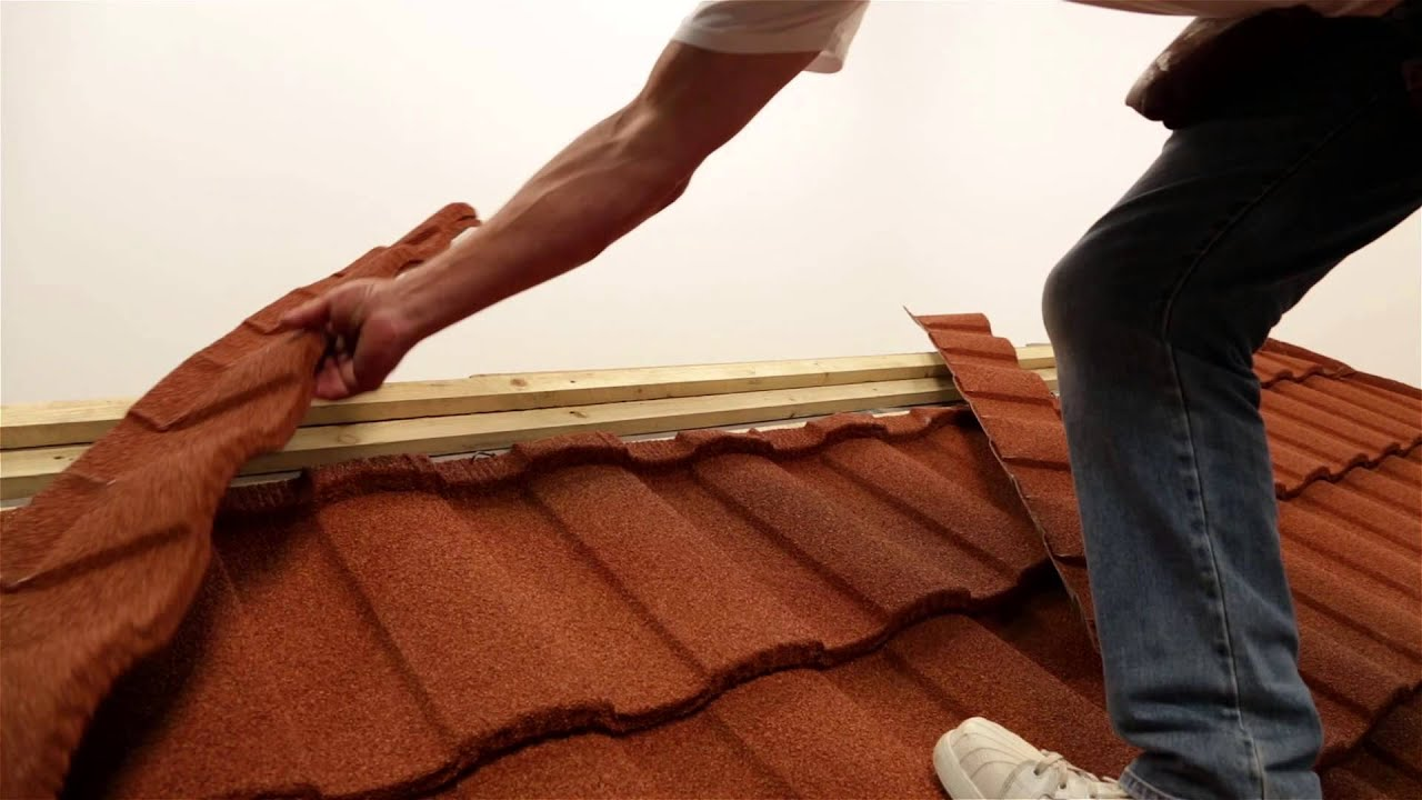 Fixing Installing Lightweight Roofing Roma Profile