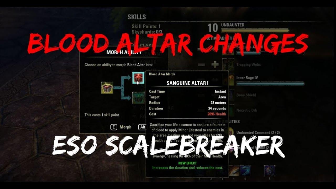 The New Blood Altar! (Scalebreaker PTS, Week 1, Elder Scrolls Online)