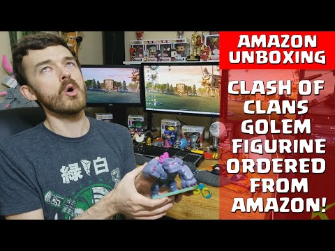 Clash of Clans Golem Figurine Unboxing and Review - Ordered from Amazon