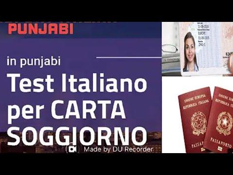 Test Italiano 2018 livello A2 per Carta Soggiorno in punjabi urdu (3511897929)