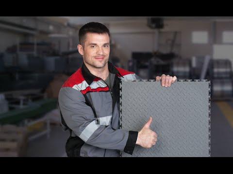Укладка модульных покрытий iNDUSTRIAL в частном гараже г. Гатчина. TN GROUP