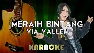 Meraih Bintang - Via VAllen | LOWER Key Acoustic Guitar Karaoke Version Instrumental Lyrics Cover