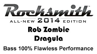 "Rob Zombie ""Dragula"" Rocksmith 2014 bass 100% pick"