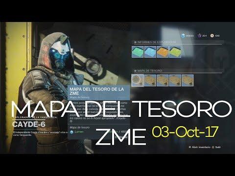 DESTINY 2.- Localización de Tesoros en ZME (Mapas del Tesoro Cayde-6, O3/Oct/17)