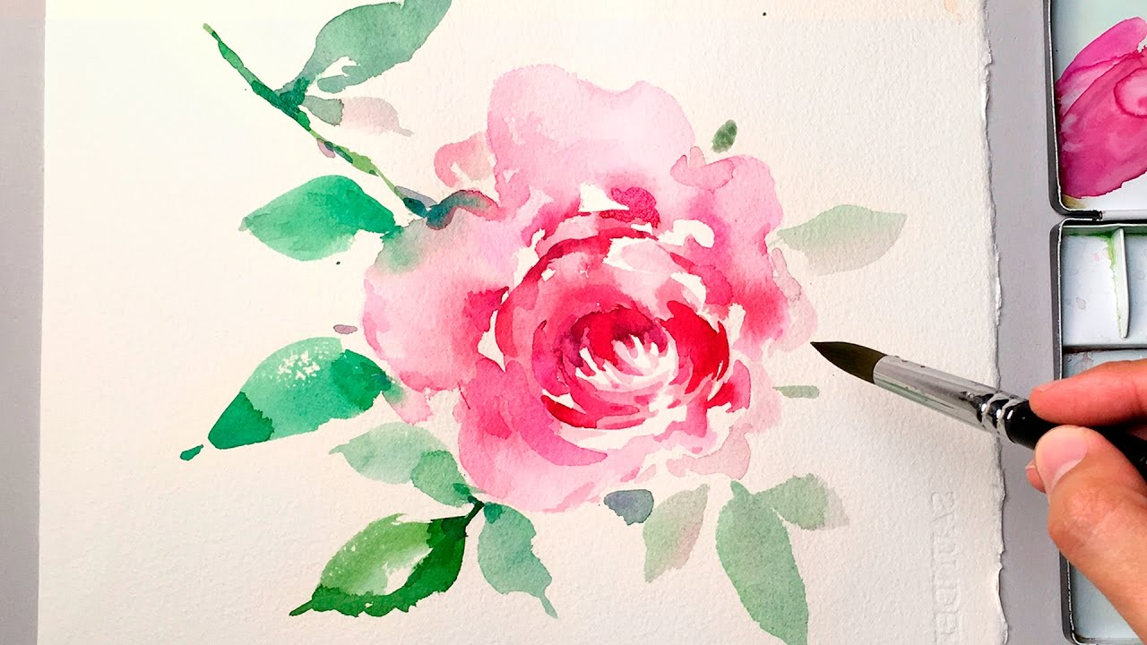 Lvl4 Watercolor Flower Painting Wet On Wet Technique Youtube