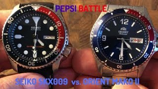 Affordable Pepsi Battle Seiko SKX009 vs. Orient Mako II