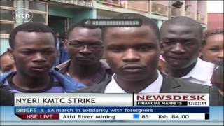 Nyeri KMTC strike reaches boiling point as subordinate staff boycot duty