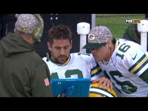 Aaron Rodgers Throws Tablet After Costly Interception | Packers vs. Panthers | NFL
