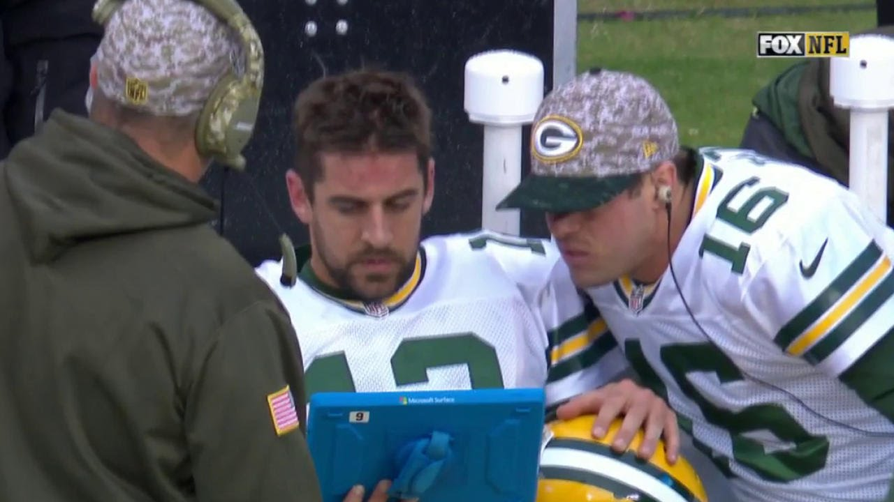Aaron Rodgers Throws Tablet After Costly Interception