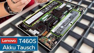 Laptop mit 2 Akkus - LENOVO ThinkPad T460S Akku Tausch