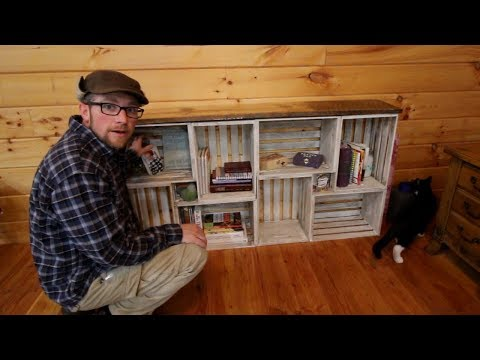 DIY Rough Saw Lumbah Wood Crate BookShelf Top