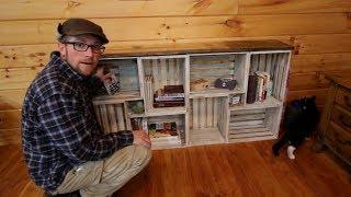 DIY Rough Saw Lumbah Wood Crate BookShelf Top