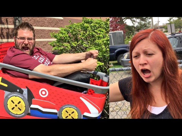 Fell Out Of Shopping Cart Fat Man Embarrasses Wife Shopping In Public