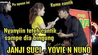 Download lagu Godain Teteh Cantik - Tri suaka nyanyikan lagu Janji suci - Yovie n Nunno di Kediri