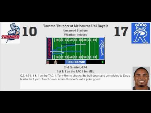 Week 5: Tacoma Thunder (4-0) @ Melbourne Uni Royals (2-2)