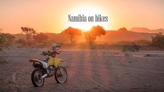 Video 14 days bike safari in Namibia | Etosha National Park, elephant, lion and  DRONE shots. download MP3, 3GP, MP4, WEBM, AVI, FLV April 2018