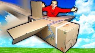 BOX FORT AIRPLANE!!