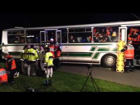 Exercice de secours de Cherré : les secours s'organisent