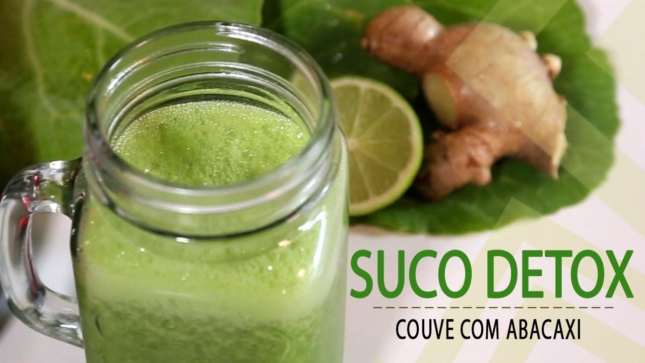 Suco Detox De Couve Com Abacaxi Pós Festas 25 Youtube
