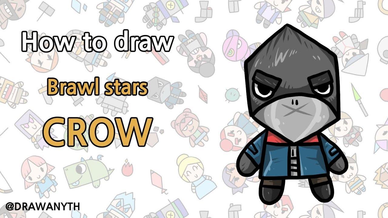 How to draw CROW brawl stars - YouTube