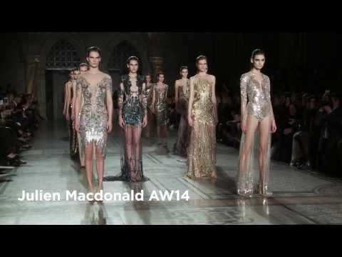 Julien Macdonald London Fashion Week show: Julien Macdonald AW14 Collection