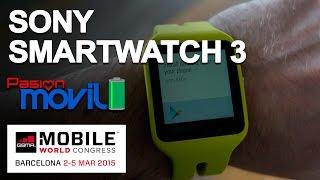 Sony SmartWatch 3 en el Mobile World Congress 2015!