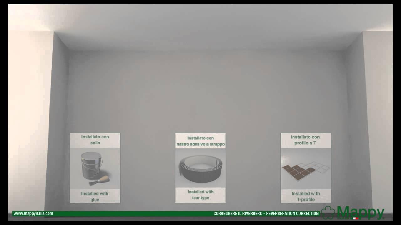 Mappy italia: correzione riverbero soffitto telai t24