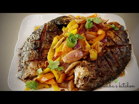 How To Make The Tastiest Oven Grilled Pompano Fish✔  I  Quick And Easy Grilled Fish Preparation I