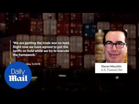 Steve Mnuchin: U.S.-China trade war 'on hold' - Daily Mail