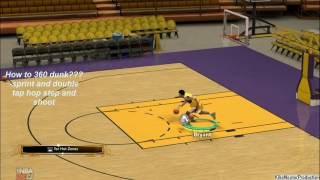 How to dunk 360 NBA 2K13 (pc)