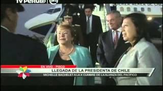 Bachelet se encuentra en Perú para X Cumbre de la Alianza del Pacífico