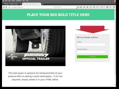 Free Responsive WordPress Squeeze Page Template