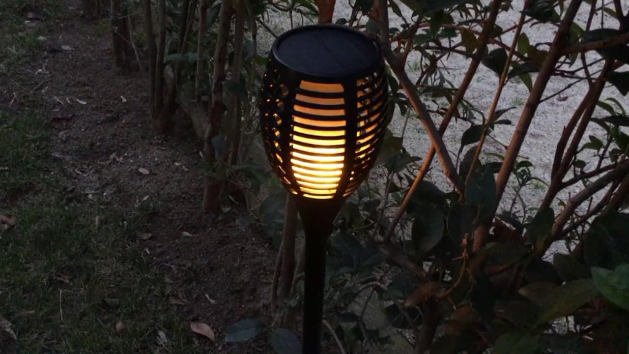 Cinoton antorchas LED solares de jardín 96 LED - YouTube