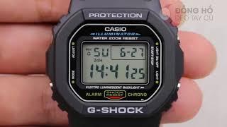 Cách phân biệt đồng hồ Casio G-shock DW5600E-1 chính hãng