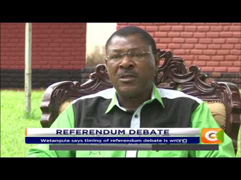Citizen Extra:Moses Wetangula against the call for referendum