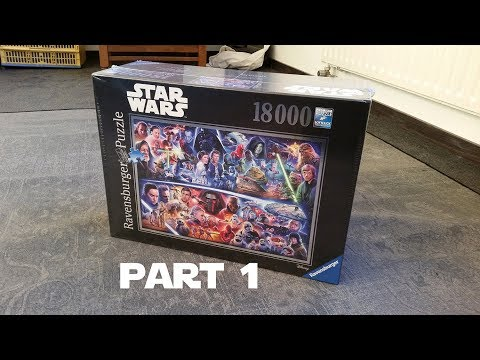 Star Wars Puzzle 18000 Pieces Part 1/4, Star Wars 18.000 Pieces Jigsaw Puzzle: Time lapse, part one