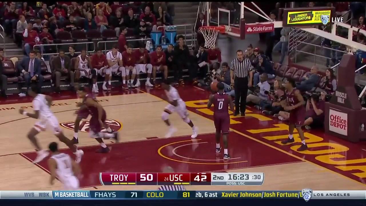 Men S Basketball Usc 82 Troy 77 Highlights 12 17 16 Youtube