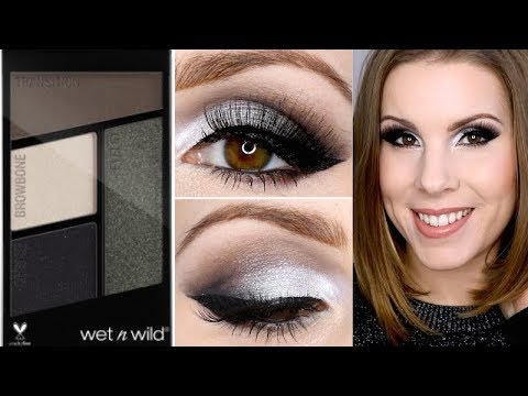 New Year's Eve Makeup Tutorial   NEW Wet N Wild Lights Out Eyeshadow Tutorial