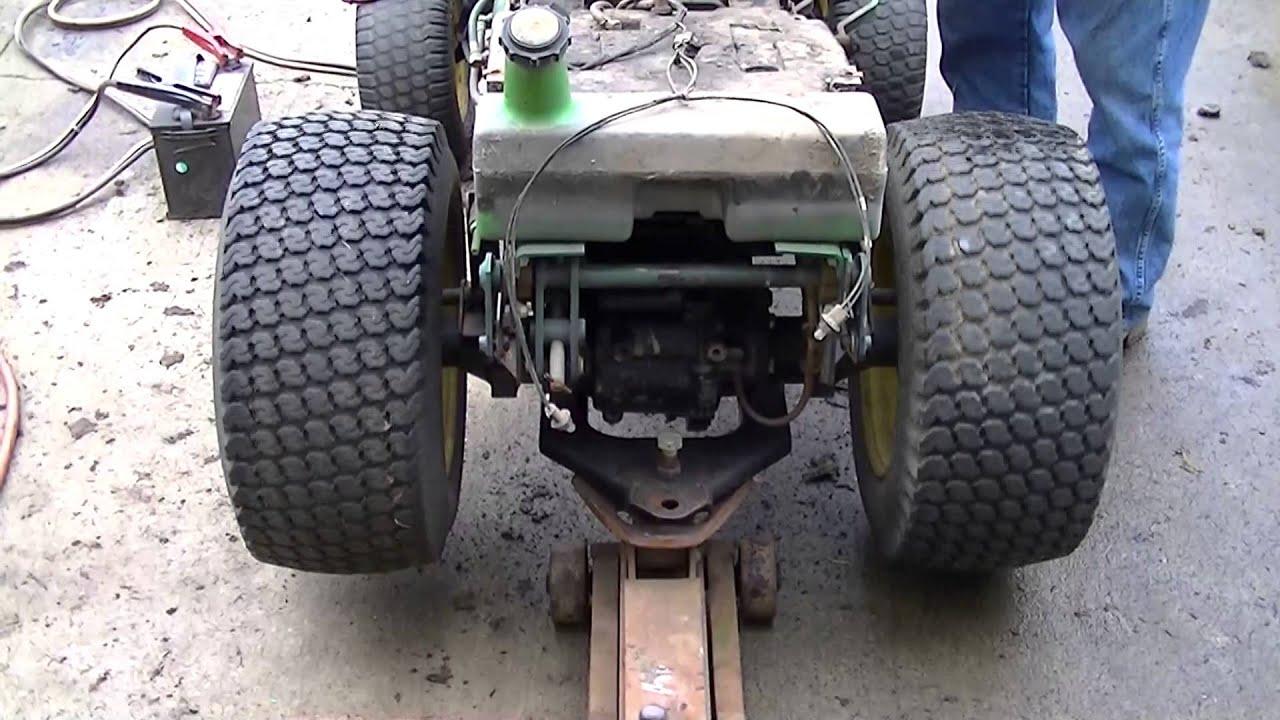 Lawn Tractor Rear End : John deere rear axle test youtube