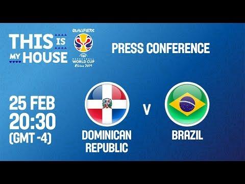 Dominican Rep v Brazil - Press Conference