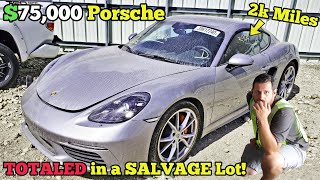 This Near NEW $75,000 Porsche was Sitting at a Salvage Auction! Here's Why It Sold Extremely Cheap!