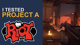 I Tested Project A (Riot Games New FPS Tactical) - Here are My thoughts
