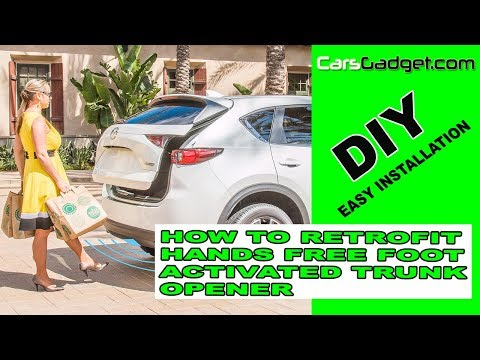 🔥How to install Aftermarket Hands Free Foot Trunk Release Kick to Open Power Lifgate Activator