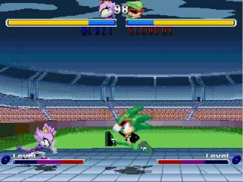 A 2D fighting game with the characters from Sonic