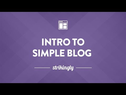 Intro to Simple Blog