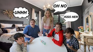 LAST TO SAY NO to Spin The Bottle *Valentines Day Kiss CHALLENGE*😘💋 |Jenna Davis