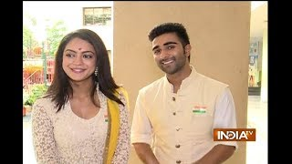 Qaidi Band stars Anya Singh and Aadar Jain celebrate Independence Day 2017 with kids