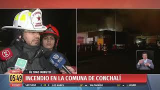 Incendio se registra en tienda Tottus de Conchalí