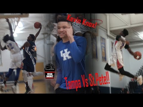 Tampa vs St.Pete Battle! NBA Prospect Kevin Knox Watches Serrel Smith Drop 26!